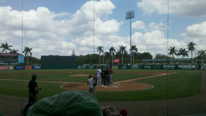 Seating view for City Of Palms Park Section B112 Row 07 Seat 3