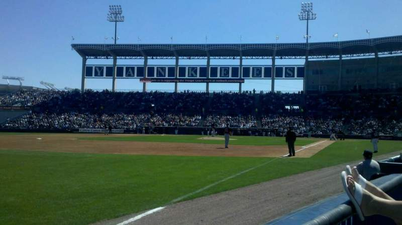 Seating view for George M. Steinbrenner Field Section 119 Row AA Seat 18