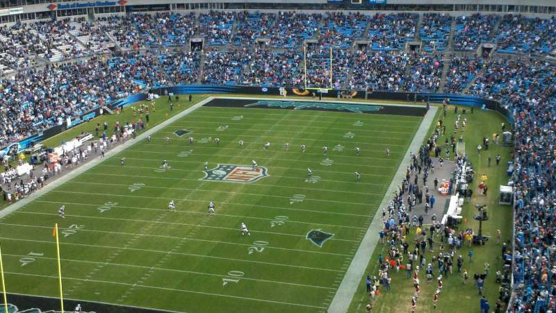 Seating view for Bank Of America Stadium Section 552 Row 22 Seat 17