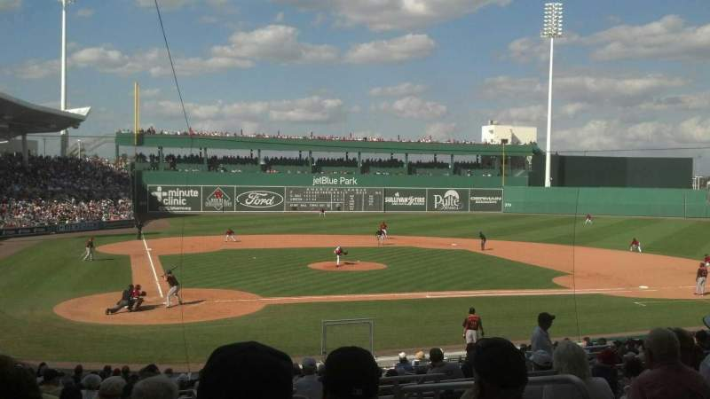 Seating view for JetBlue Park Section 203 Row 9 Seat 4