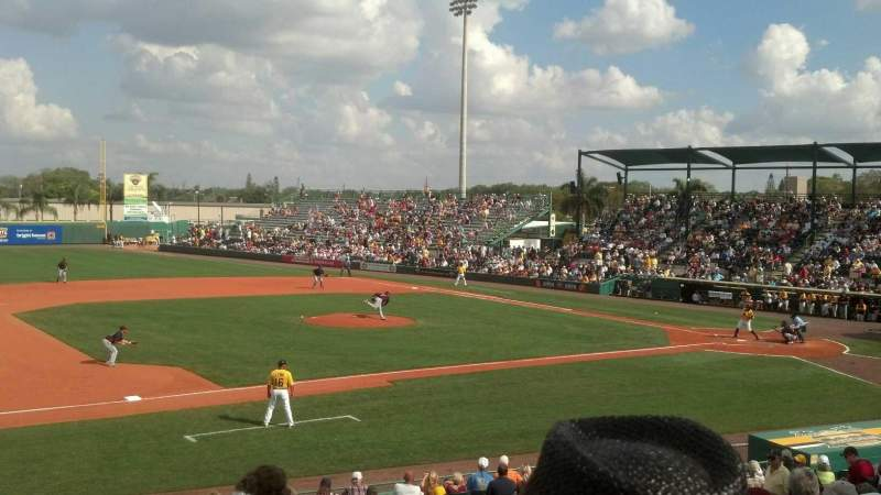 Seating view for LECOM Park Section RES 11 Row 12 Seat 17