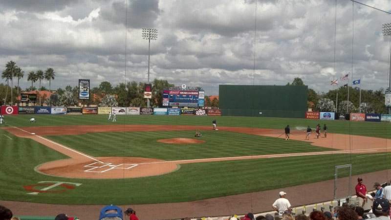 Seating view for Hammond Stadium Section 107 Row 15 Seat 1