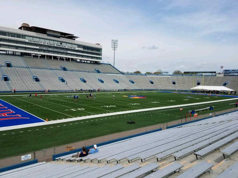 Seating view for David Booth Kansas Memorial Stadium Section 25 Row 19 Seat 8
