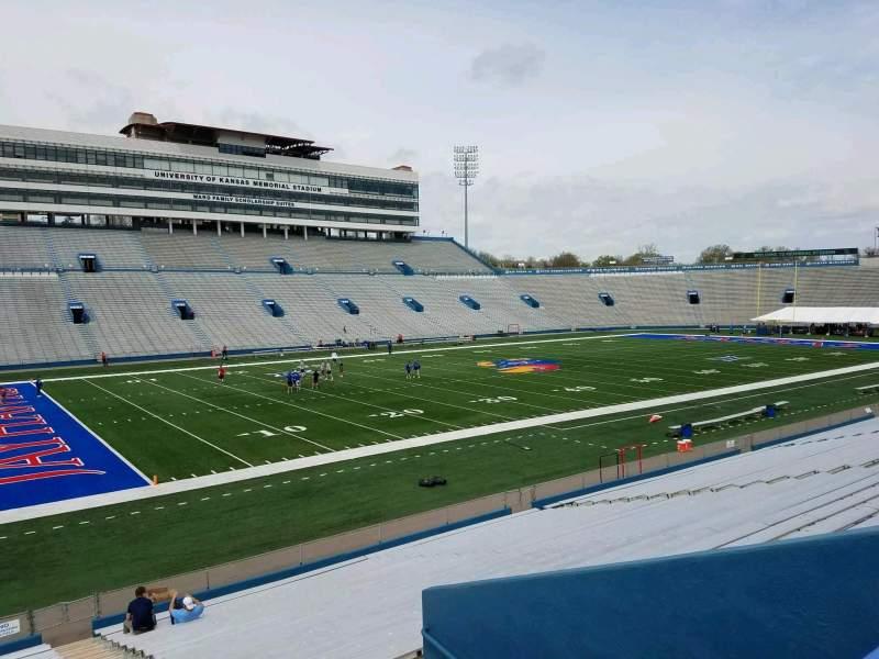 Seating view for David Booth Kansas Memorial Stadium Section 25 Row 26 Seat 1
