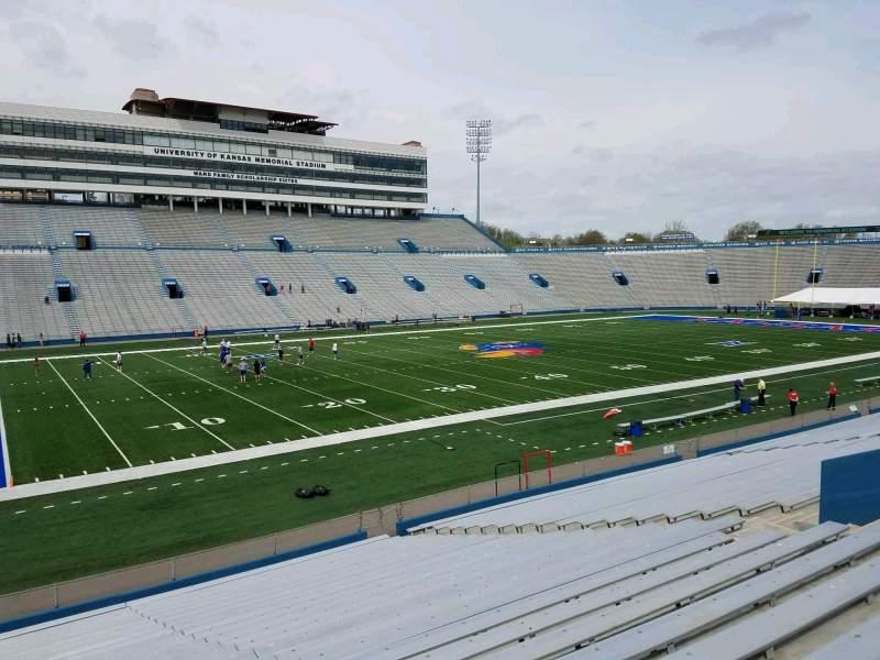 Seating view for David Booth Kansas Memorial Stadium Section 24 Row 26 Seat 20