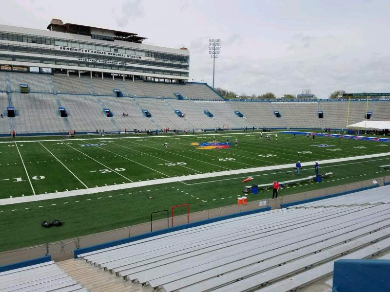 Seating view for David Booth Kansas Memorial Stadium Section 24 Row 22 Seat 1
