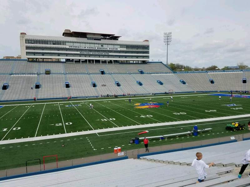 Seating view for David Booth Kansas Memorial Stadium Section 23 Row 26 Seat 13