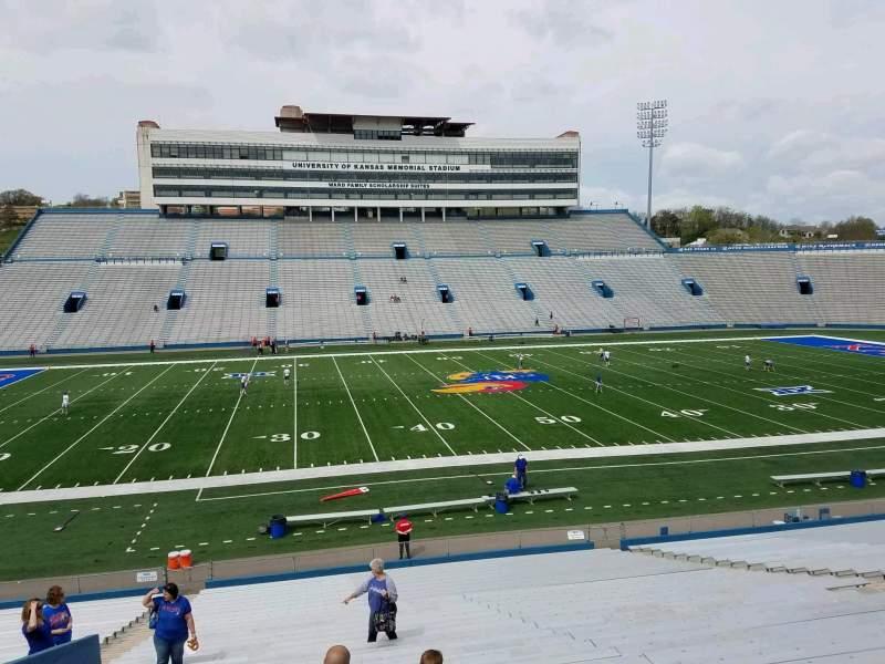 Seating view for David Booth Kansas Memorial Stadium Section 22 Row 30 Seat 25