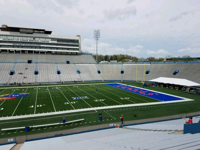Seating view for David Booth Kansas Memorial Stadium Section 20 Row 33 Seat 5