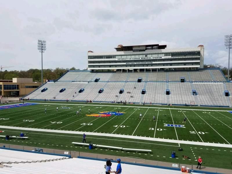Seating view for David Booth Kansas Memorial Stadium Section 20 Row 33 Seat 5