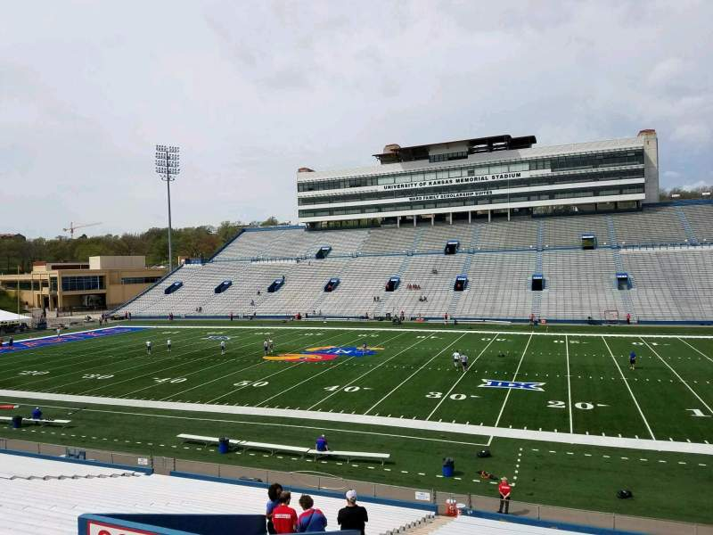 Seating view for David Booth Kansas Memorial Stadium Section 19 Row 33 Seat 10