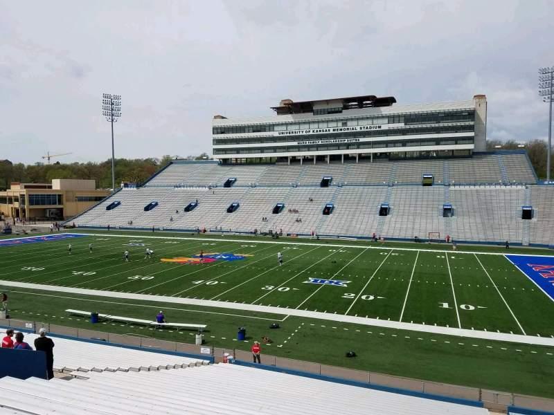 Seating view for David Booth Kansas Memorial Stadium Section 19 Row 33 Seat 6