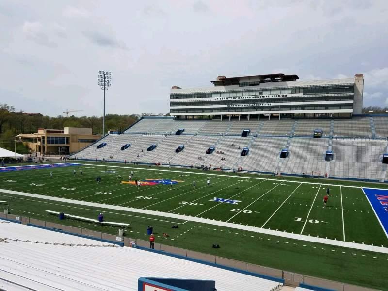 Seating view for David Booth Kansas Memorial Stadium Section 18 Row 33 Seat 5