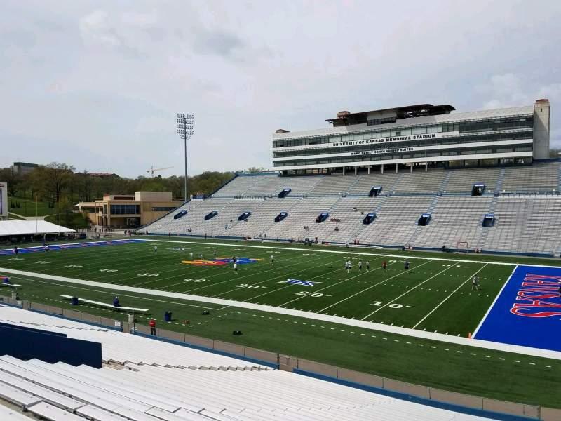 Seating view for David Booth Kansas Memorial Stadium Section 18 Row 33 Seat 10