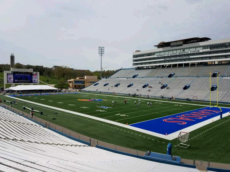 Seating view for David Booth Kansas Memorial Stadium Section 17 Row 30 Seat 8
