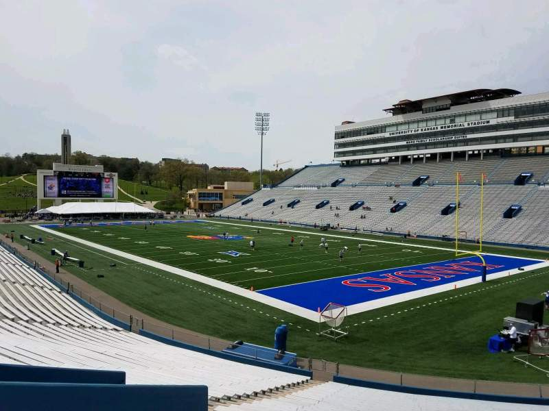 Seating view for David Booth Kansas Memorial Stadium Section 16 Row 30 Seat 35