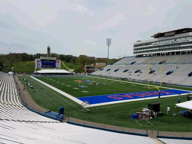Seating view for David Booth Kansas Memorial Stadium Section 16 Row 30 Seat 9