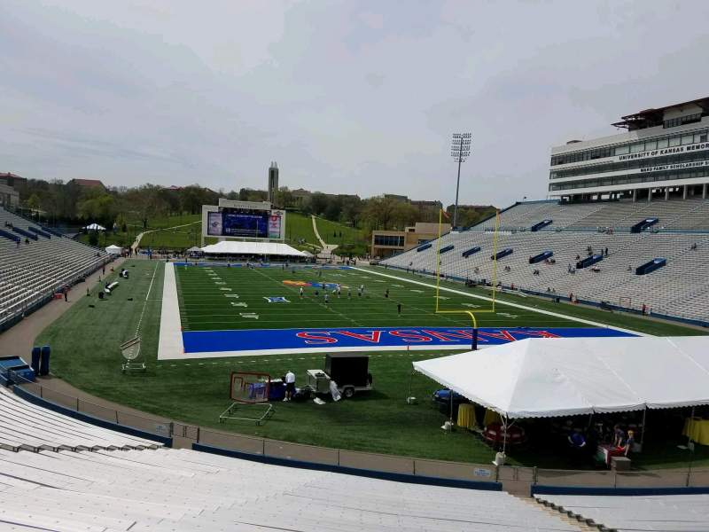 Seating view for David Booth Kansas Memorial Stadium Section 15 Row 30 Seat 13