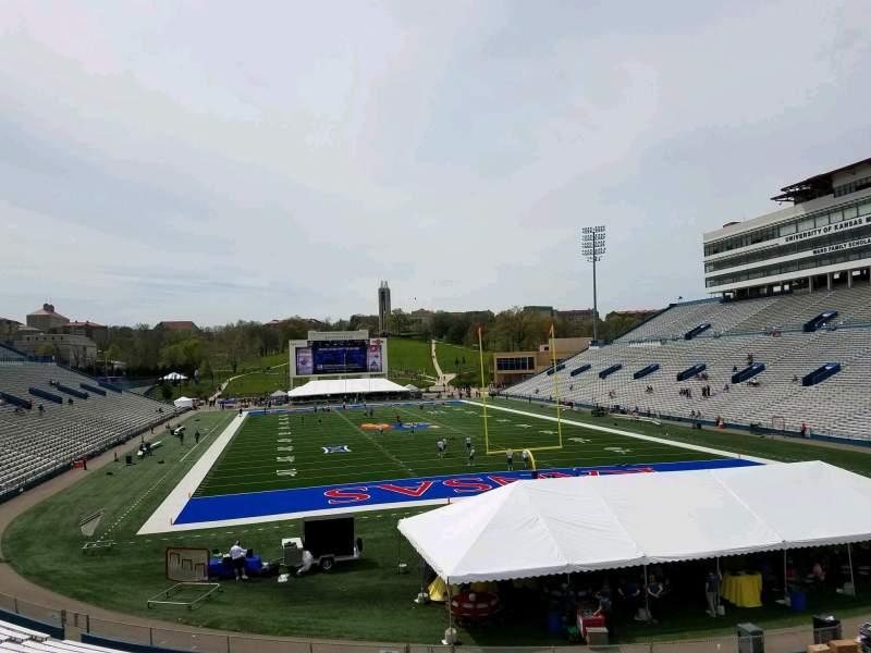 Seating view for David Booth Kansas Memorial Stadium Section 14 Row 30 Seat 7