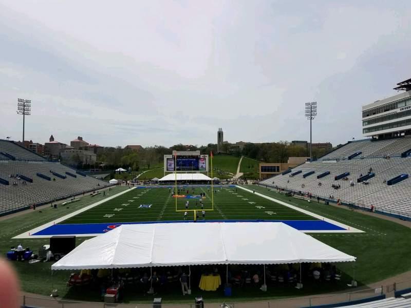 Seating view for David Booth Kansas Memorial Stadium Section 14 Row 30 Seat 4
