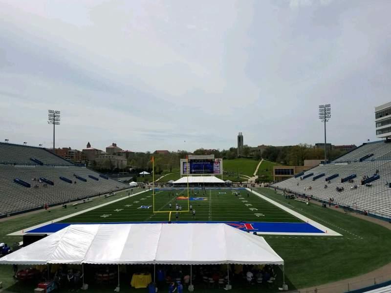Seating view for David Booth Kansas Memorial Stadium Section 13 Row 30 Seat 15