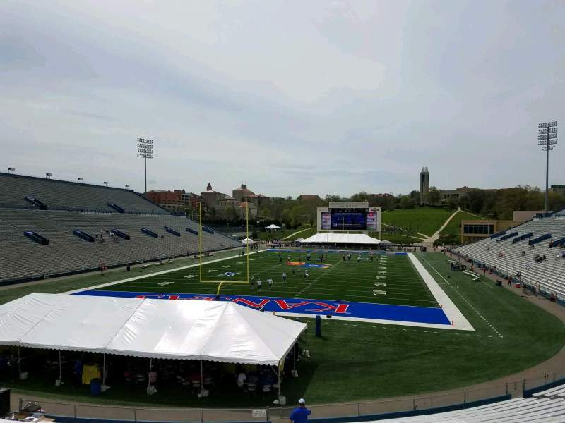 Seating view for David Booth Kansas Memorial Stadium Section 13 Row 30 Seat 5