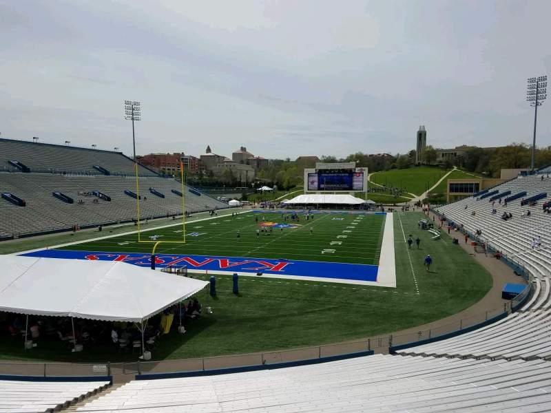 Seating view for David Booth Kansas Memorial Stadium Section 12 Row 30 Seat 35