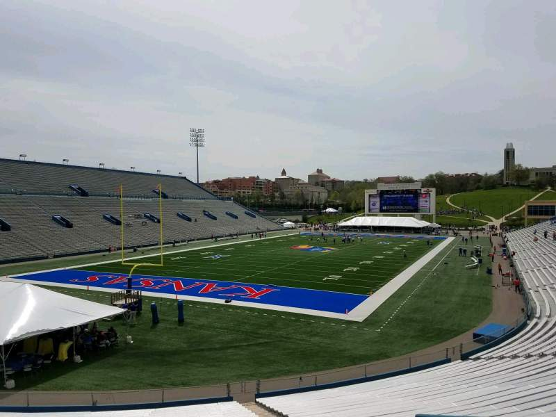 Seating view for David Booth Kansas Memorial Stadium Section 12 Row 30 Seat 8