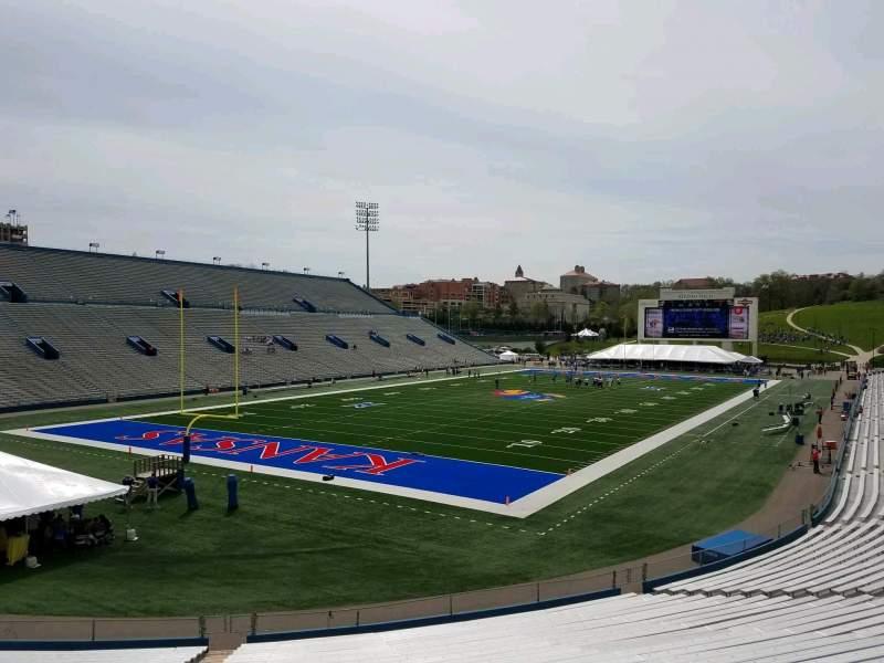 Seating view for David Booth Kansas Memorial Stadium Section 11 Row 30 Seat 40