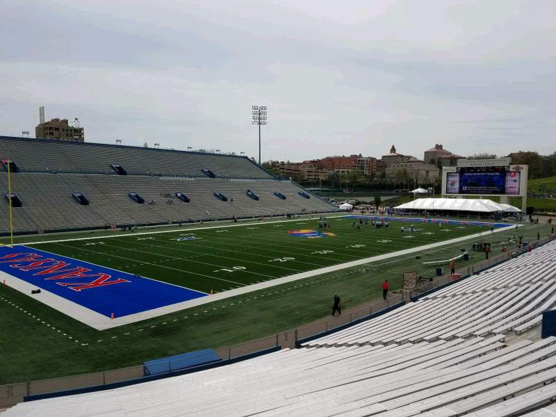 Seating view for David Booth Kansas Memorial Stadium Section 10 Row 30 Seat 35