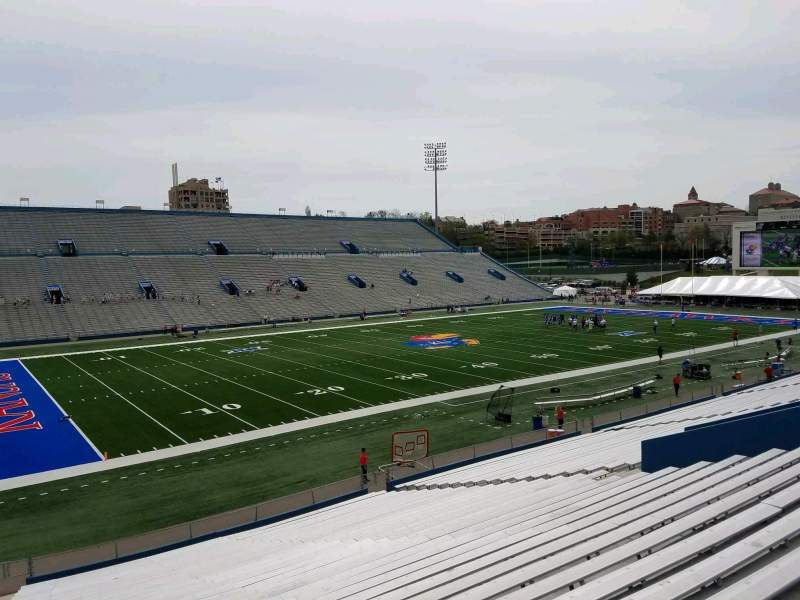 Seating view for David Booth Kansas Memorial Stadium Section 9 Row 33 Seat 35