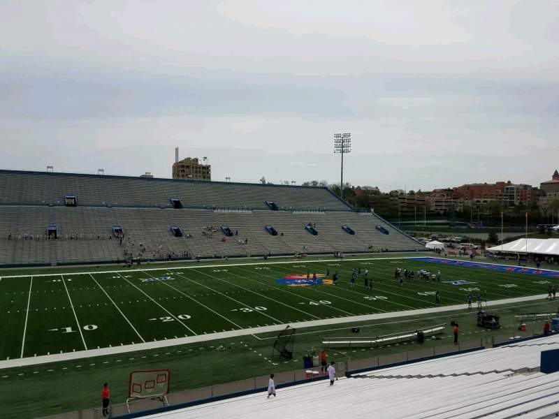Seating view for David Booth Kansas Memorial Stadium Section 9 Row 33 Seat 10