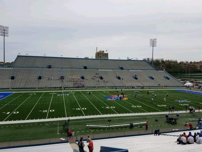 Seating view for David Booth Kansas Memorial Stadium Section 8 Row 35 Seat 4