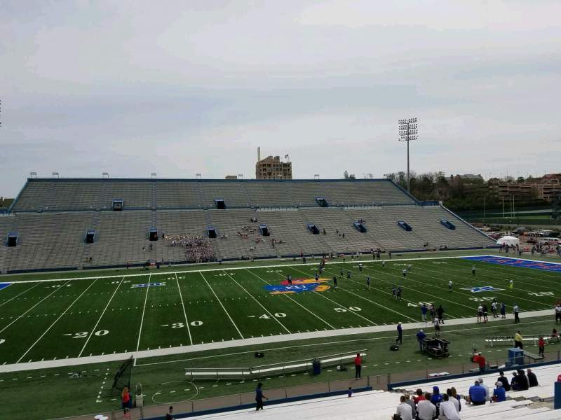 Seating view for David Booth Kansas Memorial Stadium Section 7 Row 35 Seat 30