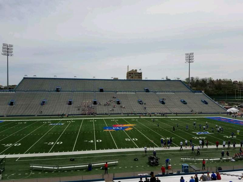 Seating view for David Booth Kansas Memorial Stadium Section 5 Row 35 Seat 5