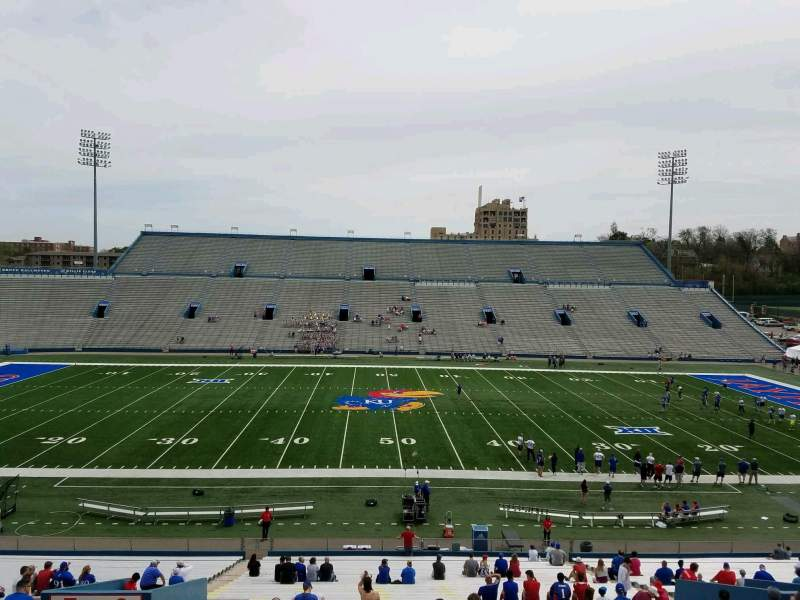 Seating view for David Booth Kansas Memorial Stadium Section 6 Row 42 Seat 22