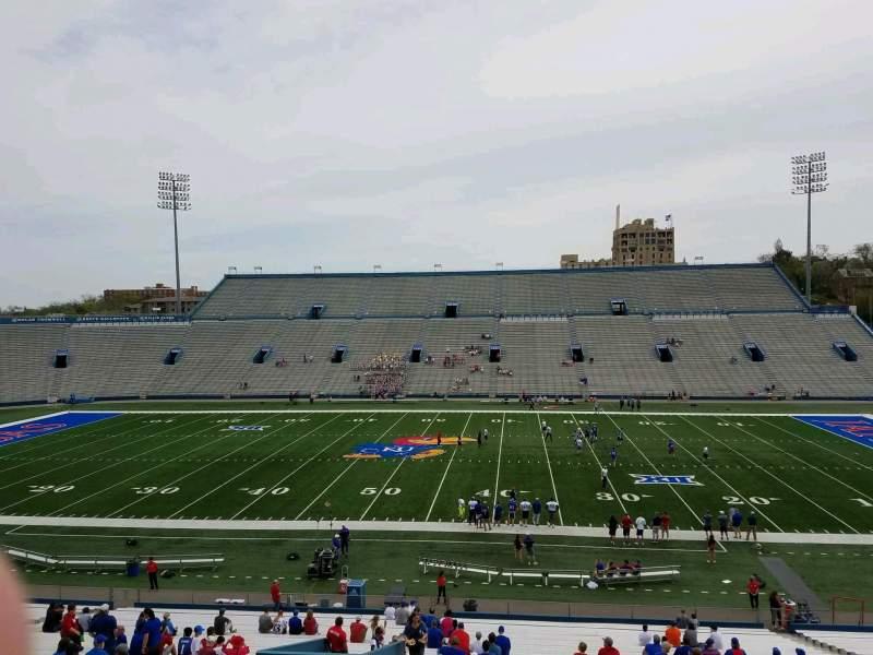 Seating view for David Booth Kansas Memorial Stadium Section 5 Row 42 Seat 25