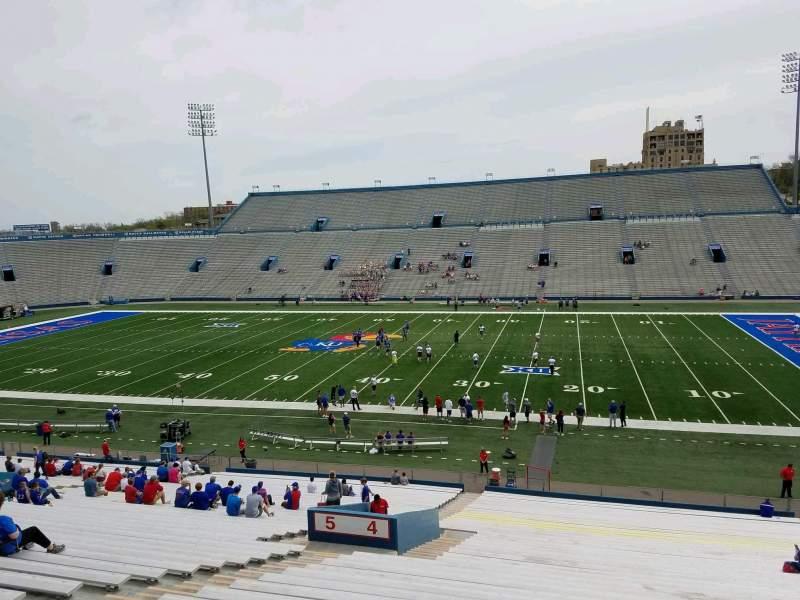 Seating view for David Booth Kansas Memorial Stadium Section 4 Row 42 Seat 23