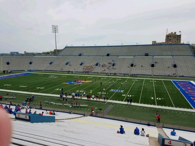 Seating view for David Booth Kansas Memorial Stadium Section 4 Row 42 Seat 5