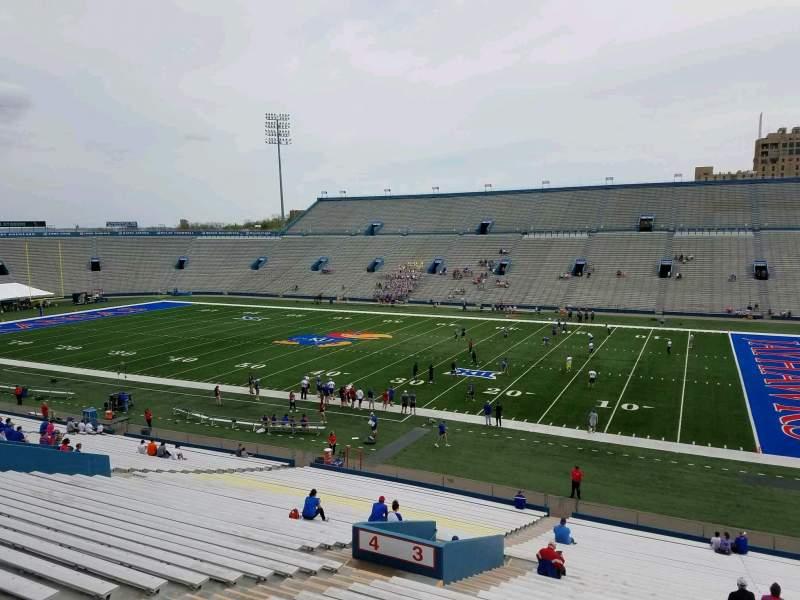Seating view for David Booth Kansas Memorial Stadium Section 3 Row 40 Seat 11