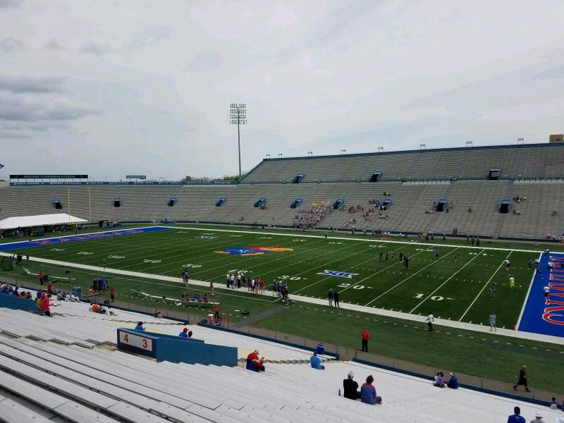 Seating view for David Booth Kansas Memorial Stadium Section 3 Row 39 Seat 5