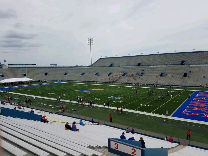 Seating view for David Booth Kansas Memorial Stadium Section 2 Row 35 Seat 25