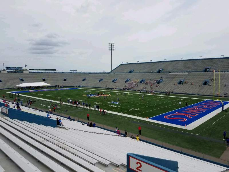 Seating view for David Booth Kansas Memorial Stadium Section 1 Row 33 Seat 10