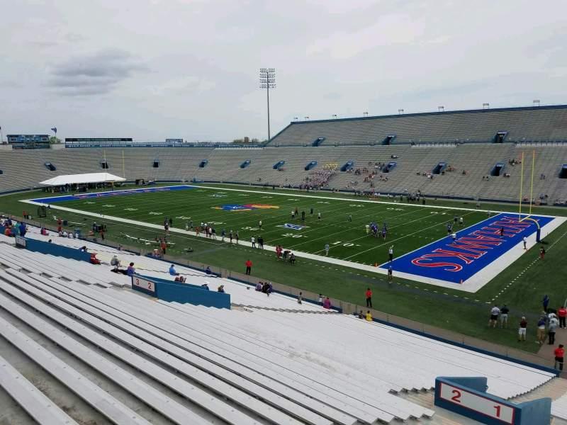Seating view for David Booth Kansas Memorial Stadium Section 1 Row 40 Seat 5