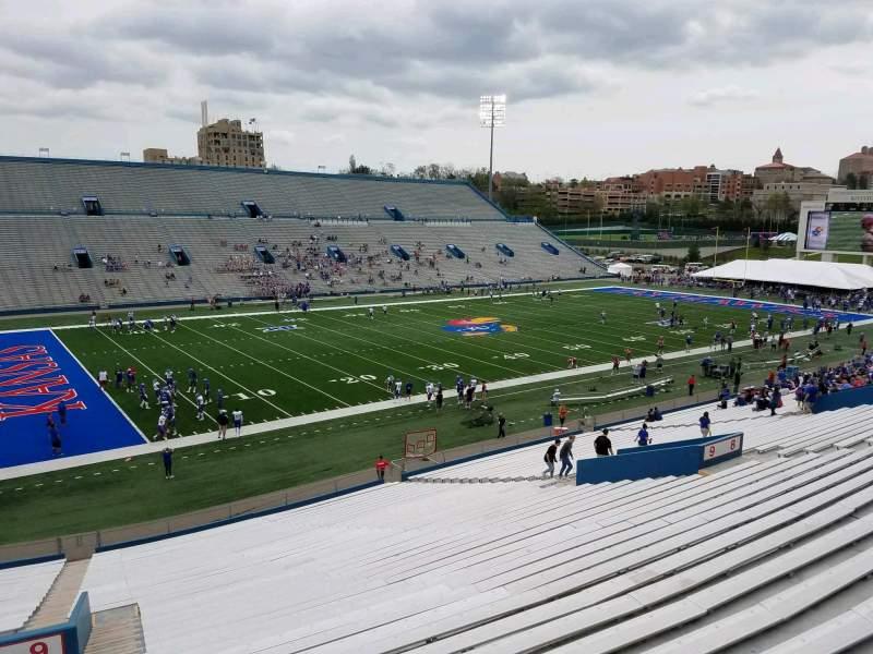 Seating view for David Booth Kansas Memorial Stadium Section 9 Row 40 Seat 5