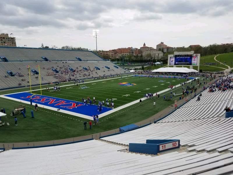 Seating view for David Booth Kansas Memorial Stadium Section 11 Row 40 Seat 10