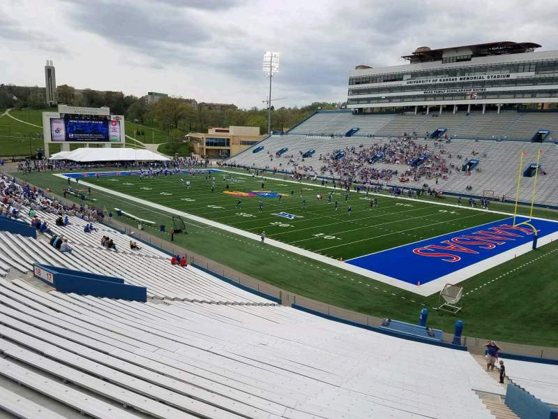 Seating view for David Booth Kansas Memorial Stadium Section 17 Row 40 Seat 5