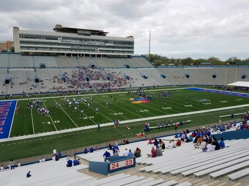 Seating view for David Booth Kansas Memorial Stadium Section 24 Row 42 Seat 6