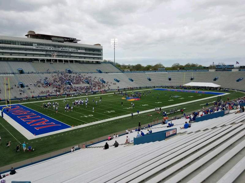 Seating view for David Booth Kansas Memorial Stadium Section 26 Row 42 Seat 2