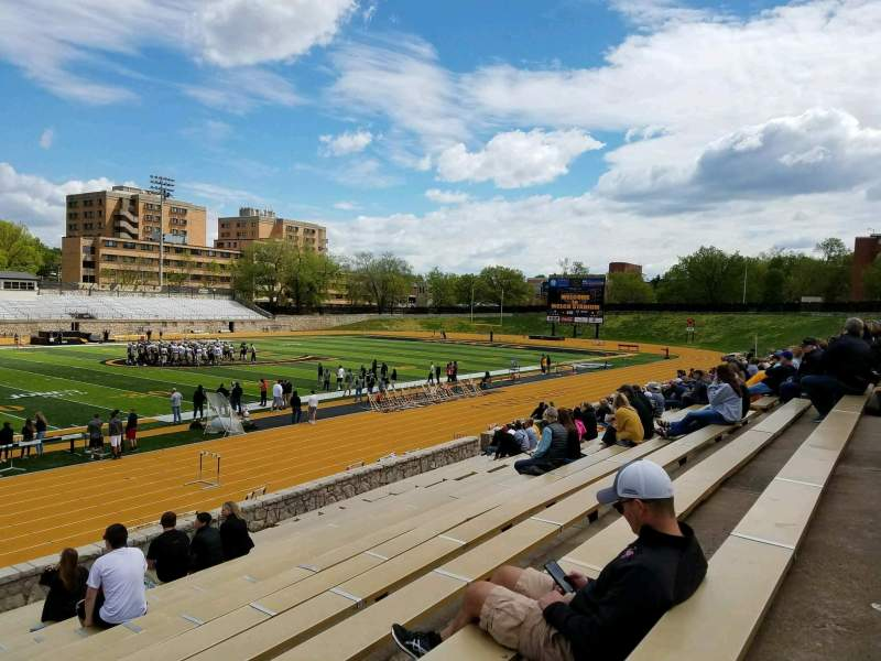 Seating view for Welch Stadium Section K Row 20 Seat 2